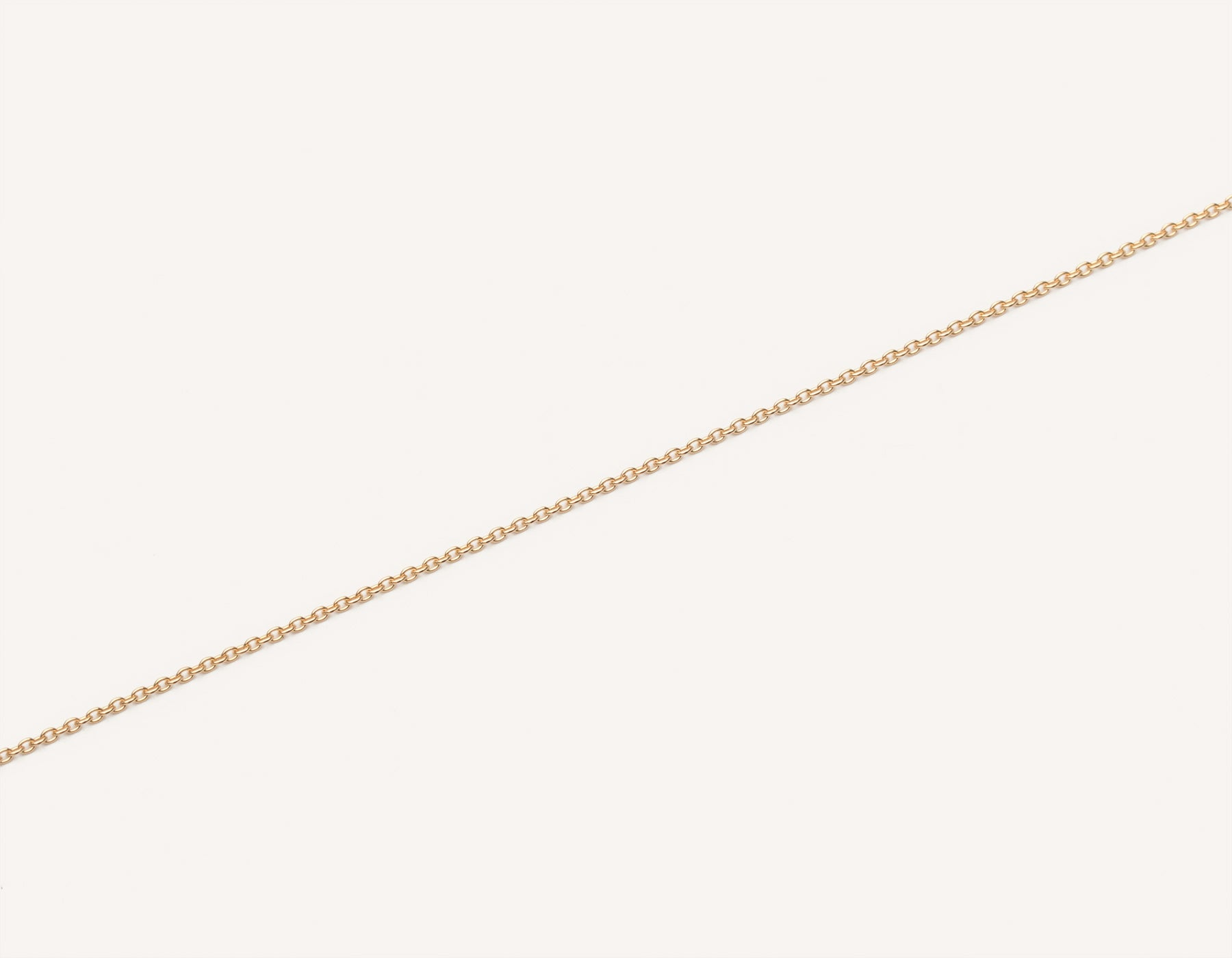 Vrai and oro simple classic 14k solid gold oval link bracelet delicate, 14K Rose Gold