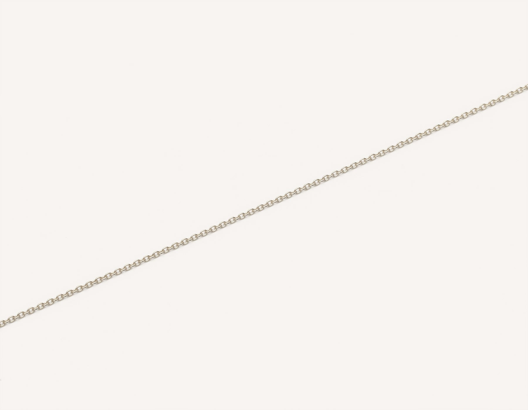 Vrai and oro simple classic 14k solid gold oval link bracelet delicate, 14K White Gold