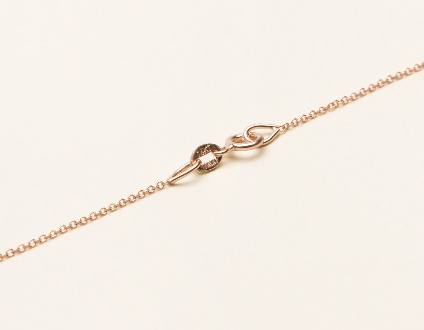 Simple classic 14k solid gold Oval Link Chain necklace with spring ring clasp by Vrai & Oro sustainable jewelry, 14K Rose Gold