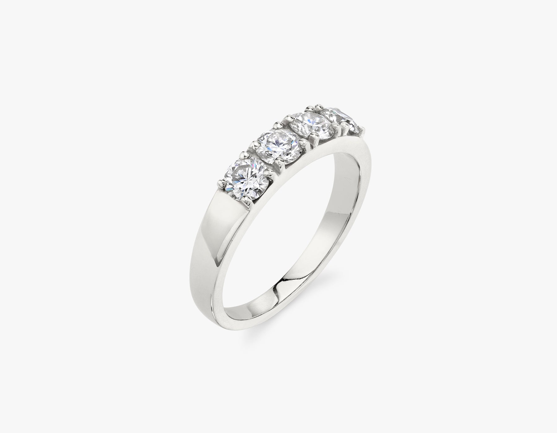 Vrai classic elegant Round Diamond Tetrad Band .25ct Round Brilliant Diamond Ring, 14K White Gold