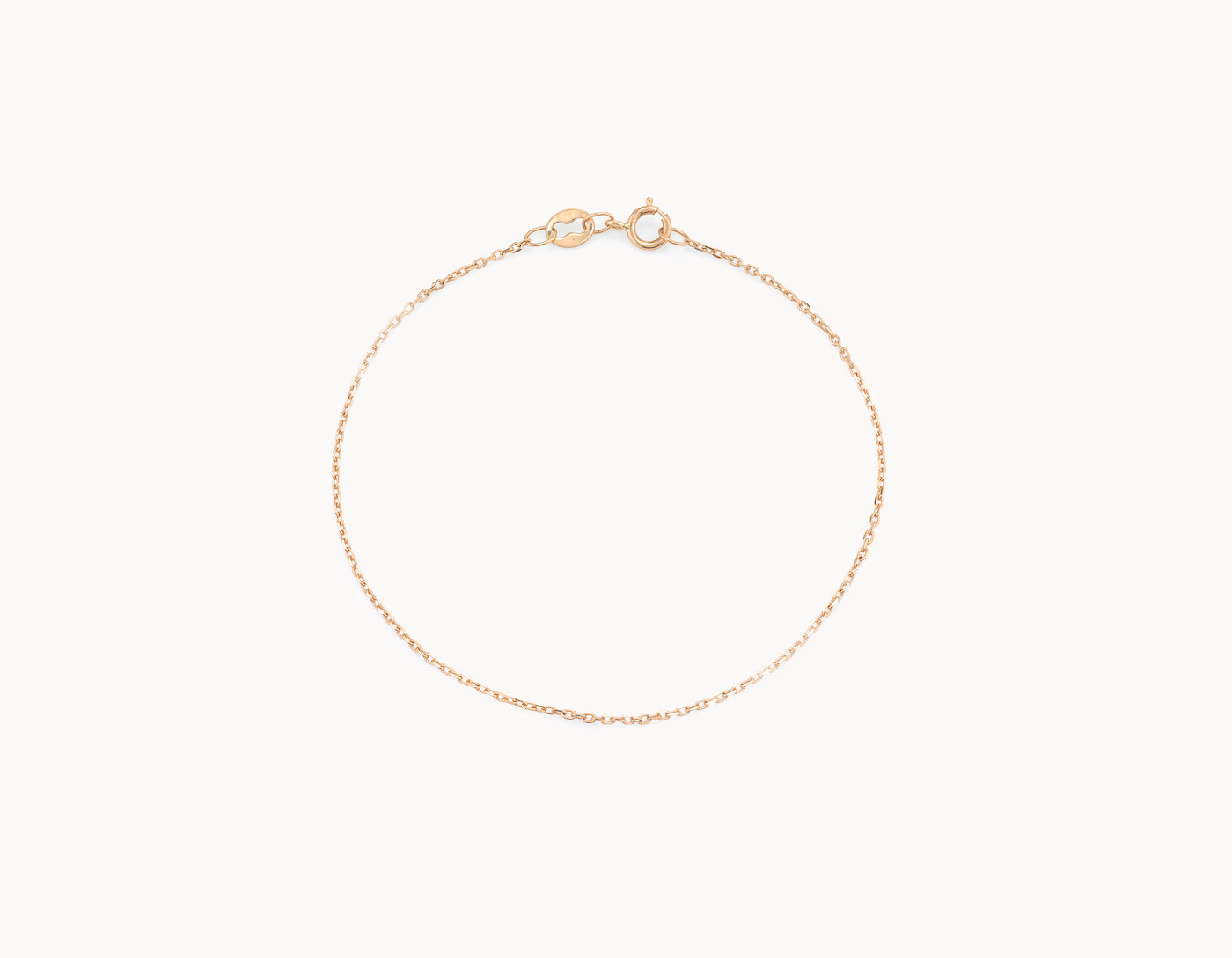 Delicate simple diamond cut Shimmer Chain Bracelet by Vrai, 14K Rose Gold