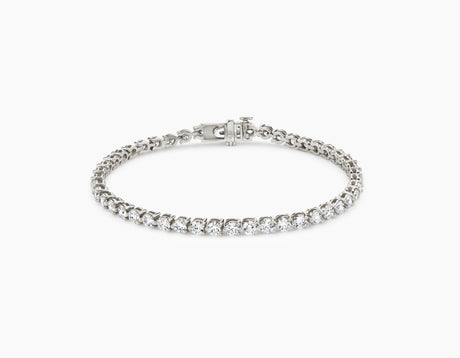 Round Diamond Tennis Bracelet - Medium