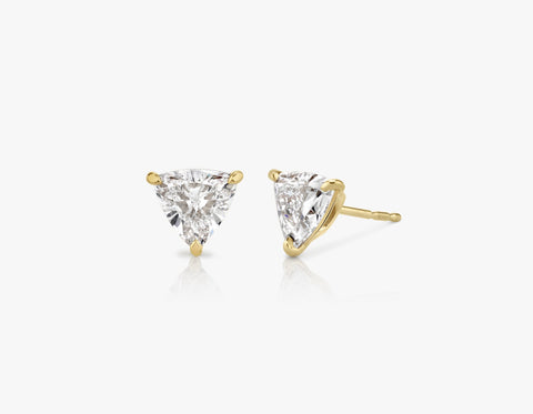 Solitaire Trillion Diamond Studs