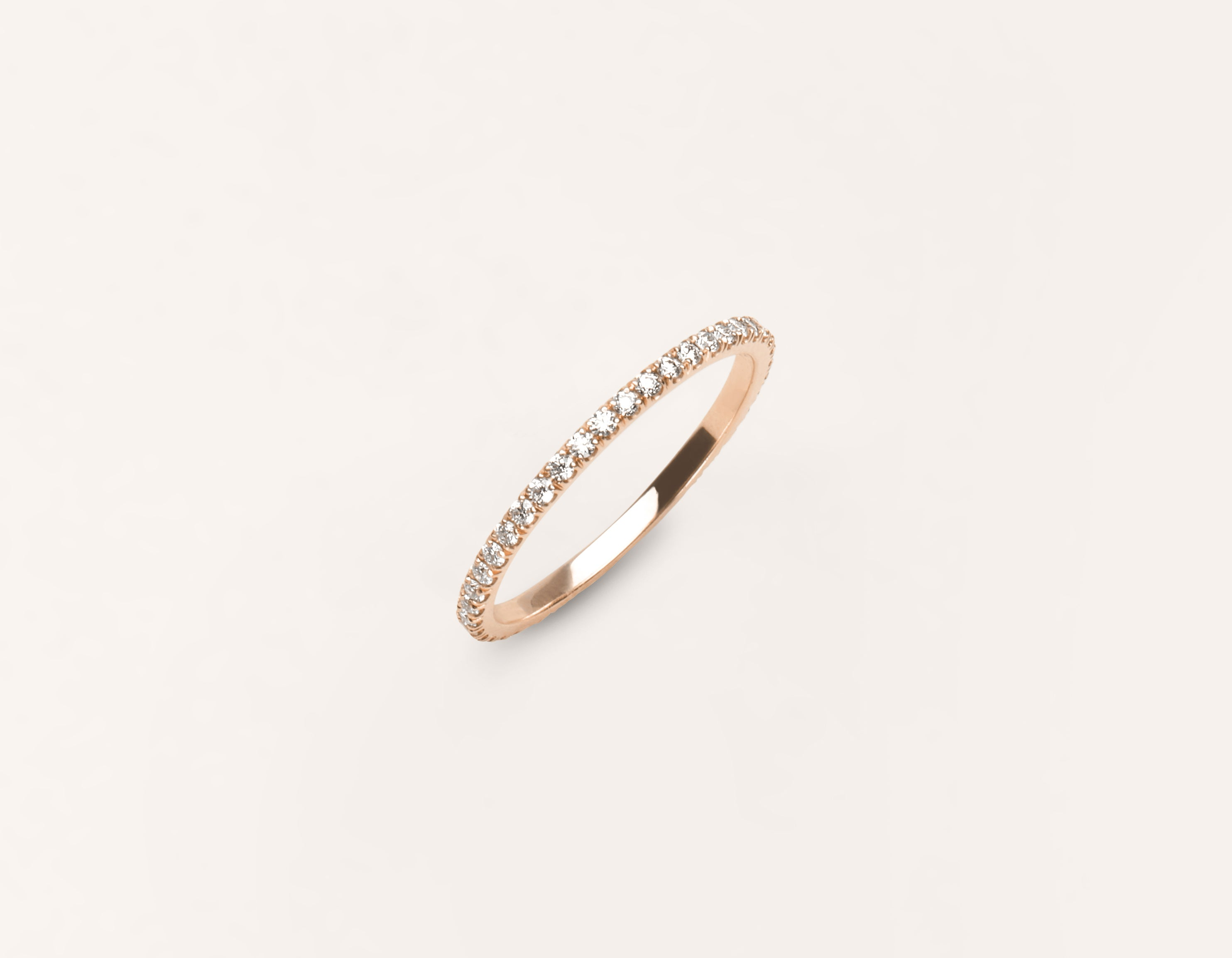 rose gold solitaire band petal ring beers infinity bands de