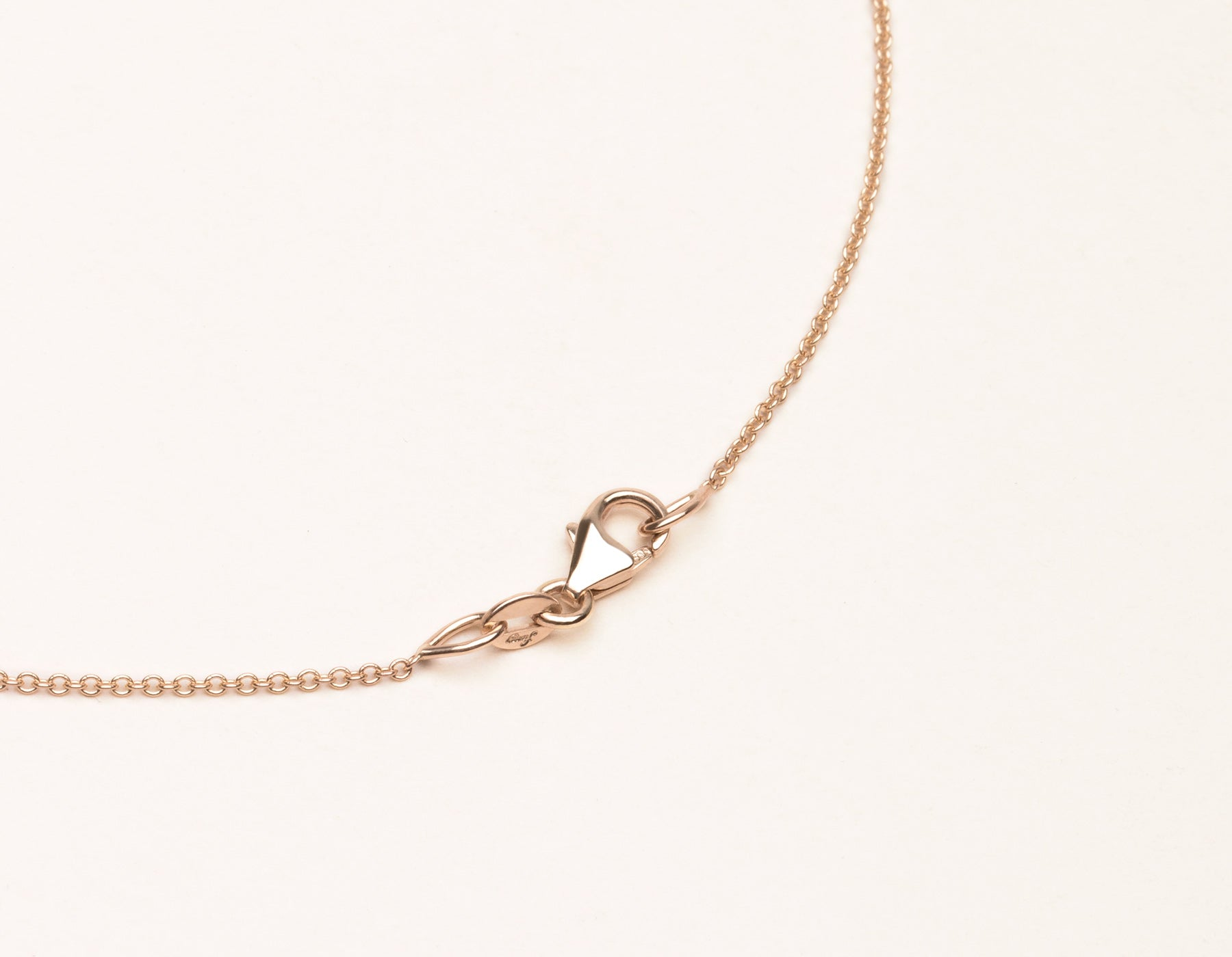 Vrai & Oro 18K Solid Gold Necklace Lobster Clasp, 18K Rose Gold