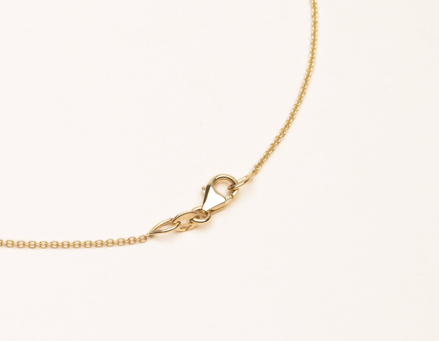 Vrai & Oro 18K Solid Gold Necklace Lobster Clasp, 18K Yellow Gold