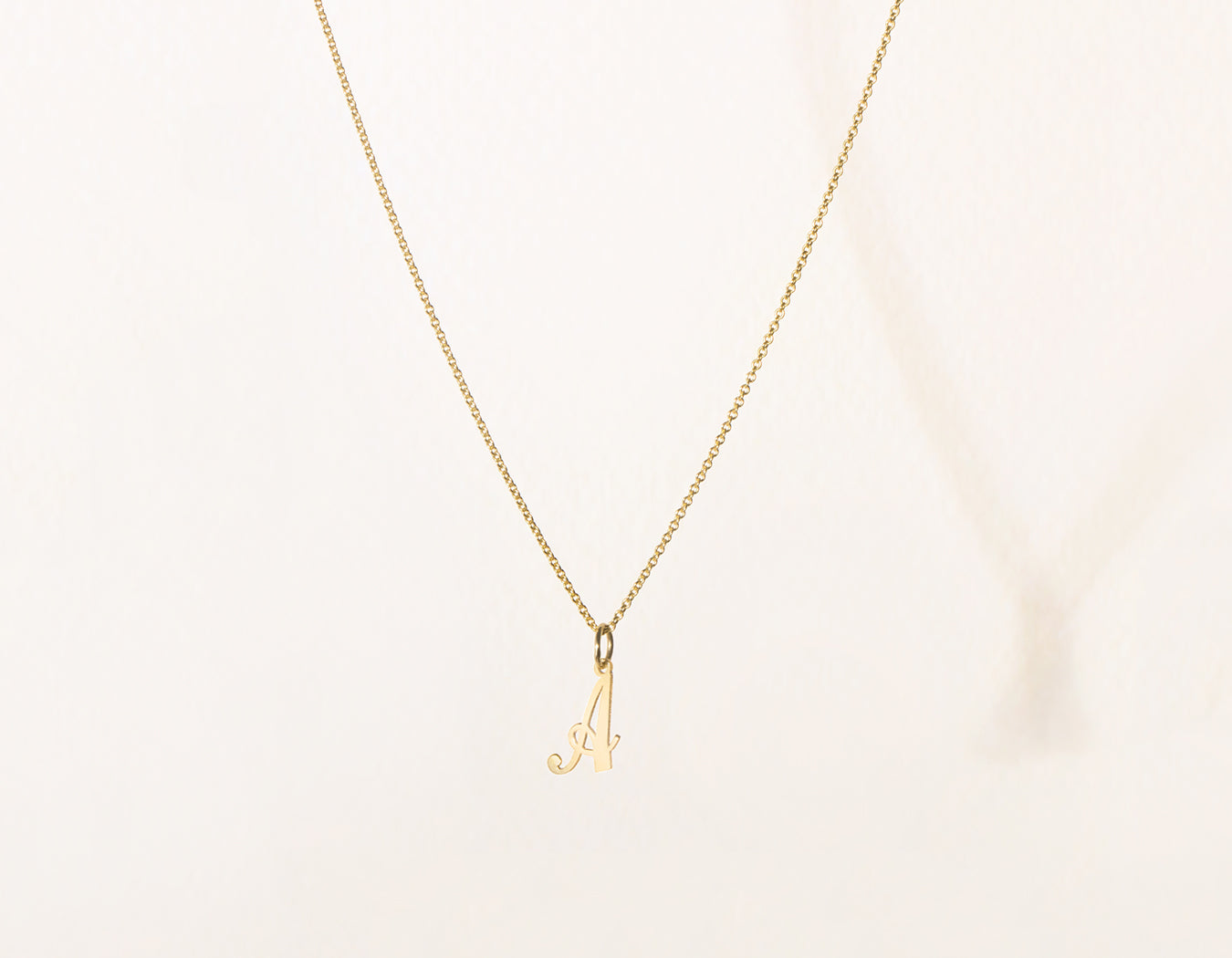 9fc5f132d vrai and Oro simple classic 14k Solid Gold Letter Pendant charm on oval  link chain,