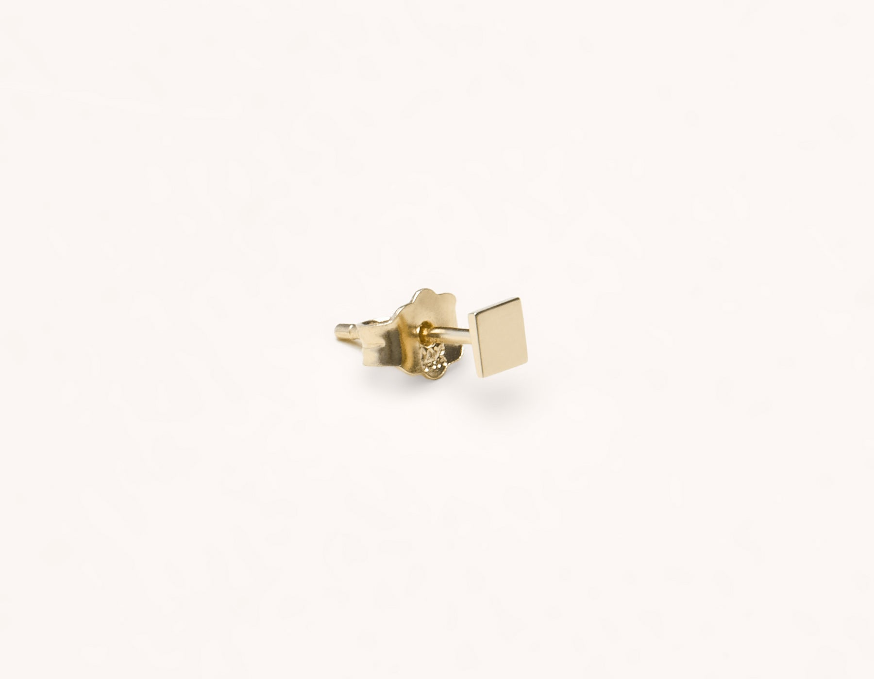 Basic subtle Square Stud earring 14k solid gold Vrai & Oro versatile jewelry, 14K Yellow Gold
