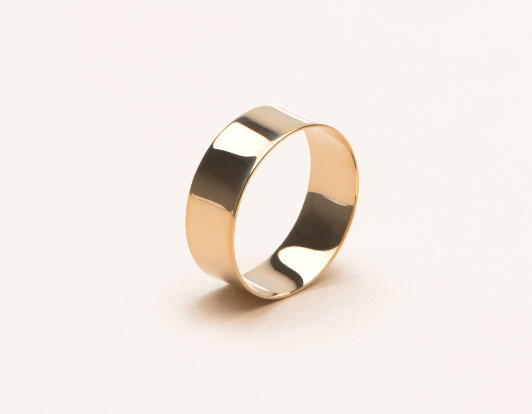 simple modern 14k solid gold Thick Stacking Ring Vrai & Oro, 14K Rose Gold