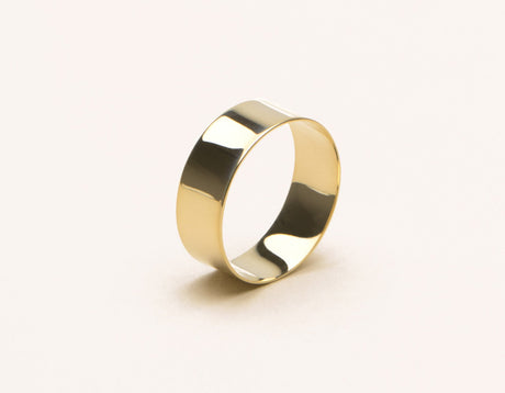 simple modern 14k solid gold Thick Stacking Ring Vrai & Oro, 14K Yellow Gold