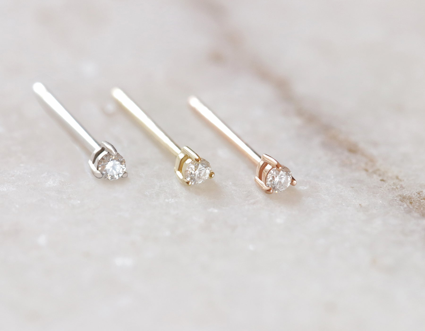 Tiny Diamond Studs 14k yellow gold rose gold white gold post earrings baby  diamond Vrai   7a20e2fd1