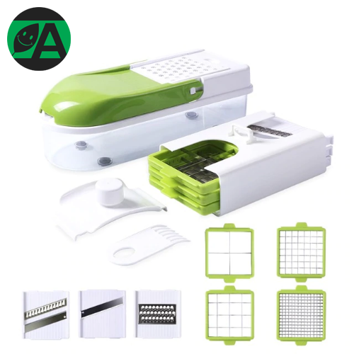 Vegetable Slicer With 8 Dicing Blades