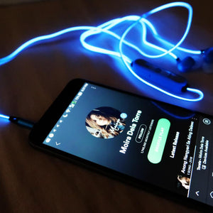 LED SPARK EARPHONE--World's First and Only Laser Headphones