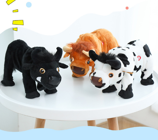 Bullfighting Electric Singing Jumping Creative Funny Plush Toys