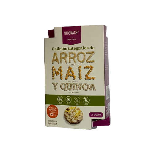 Galletas Integrales de Arroz, Maiz y Quinoa 30 gr