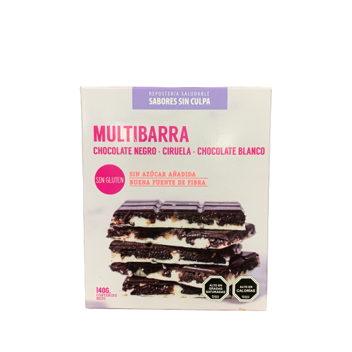 Chocolate Multibarra con Ciruelas 140gr