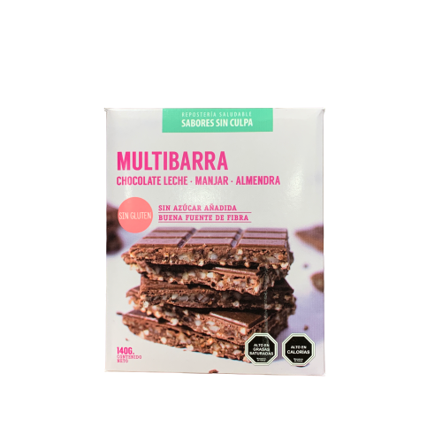 Chocolate Multibarra con Almendras 140gr