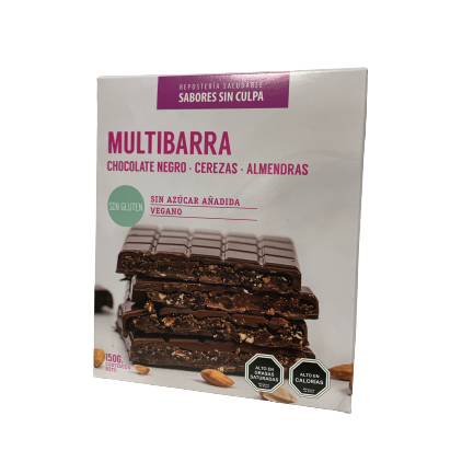 Chocolate Multibarra con Cerezas y Almendras 150gr