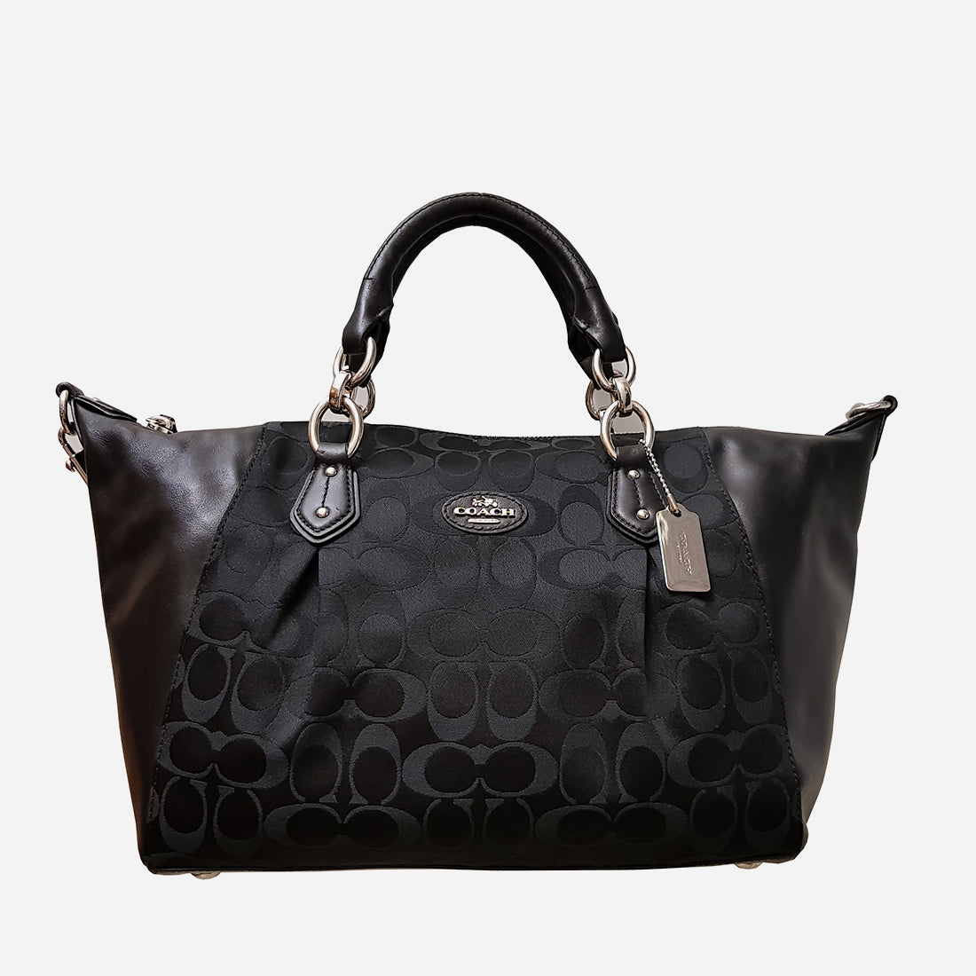 COACH BLACK SATCHEL HANDBAG