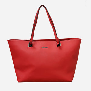 CALVIN KLEIN RED TOTE BAG
