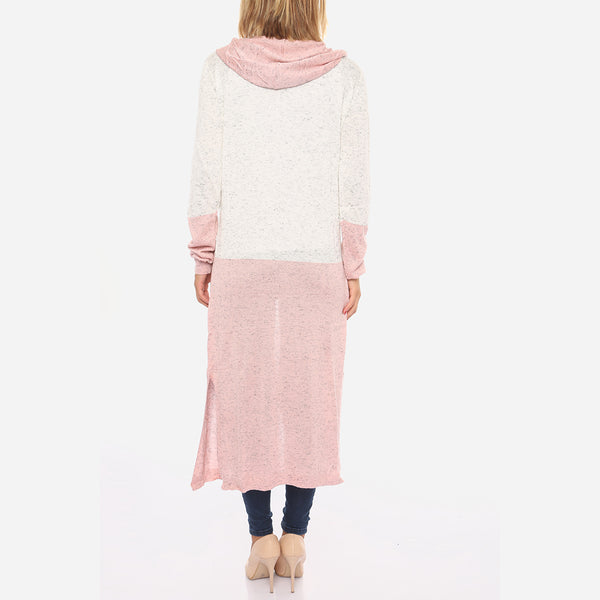WAIST TIE HOODED CARDIGAN