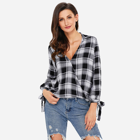 WRAP PLAID SHIRT
