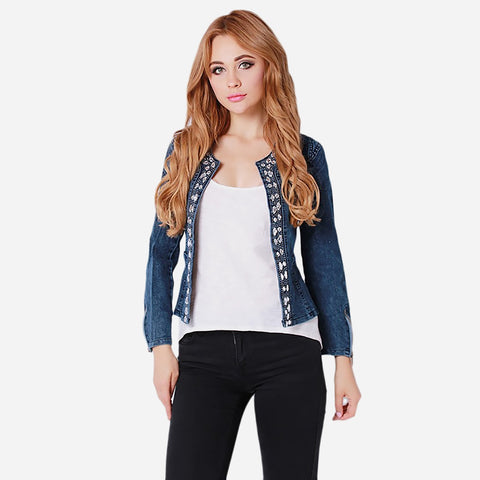 SEQUINS DENIM JACKET