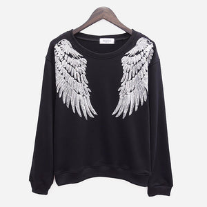 ANGEL WING SEQUINED SWEATSHIRT