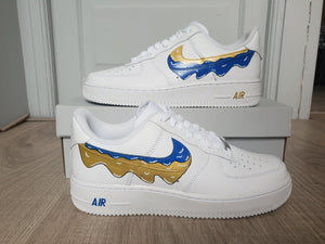 Air Force 1 - Dégoulis Blue/Gold