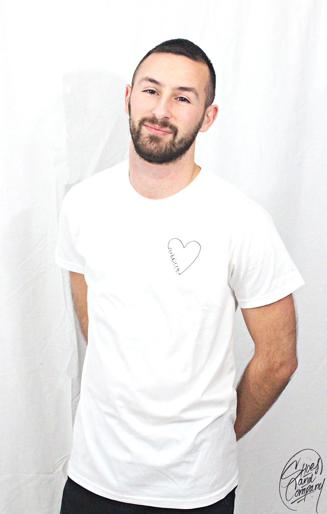 T-shirt Homme Amour (Blanc)