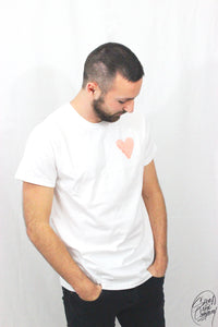 T-shirt Homme Amour Red (Blanc)
