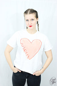 T-shirt Femme Grand Amour Red (Blanc)