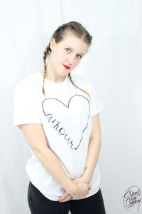 T-shirt Femme Grand Amour (Blanc)