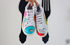 Shoesandcompany.fr customisation personnalisation de Stan Smith avec donuts hotdog glace frite mac donald