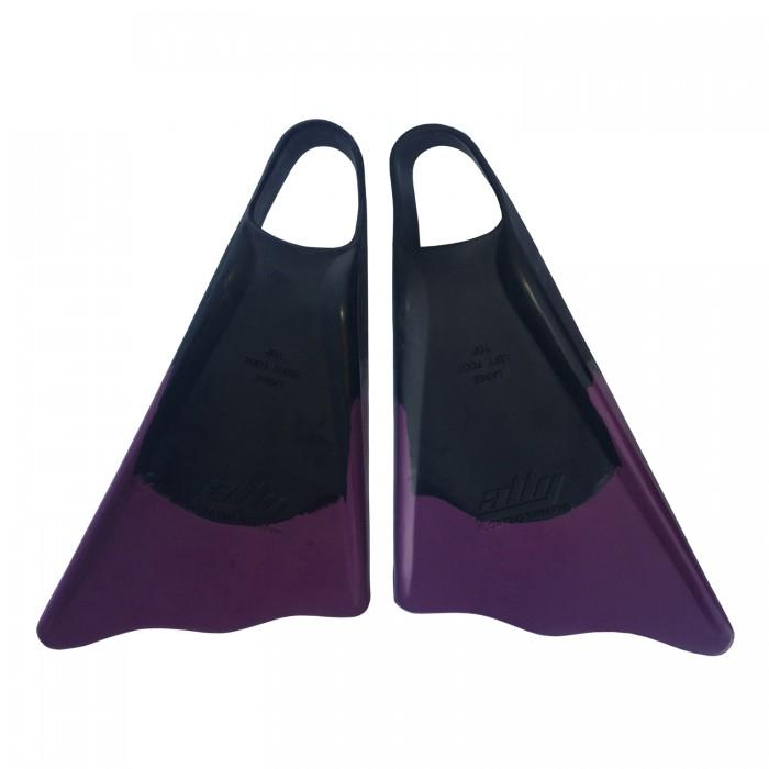 Ally Floating Swim Fins Black/ Purple - Swim Fins - 662 Bodyboard Shop