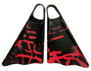 Ally Floating Swim Fins Black/Pink Camo