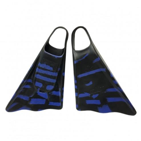 Ally Floating Swim Fins Black/Blue Camo - Swim Fins - 662 Bodyboard Shop