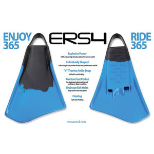 ERS4 Swim Fins Red / White / Blue - Swim Fins - 662 Bodyboard Shop