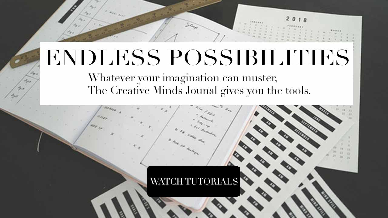 Whatever your mind can muster, the creative minds journal gives you the tools