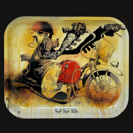 OCB - Metal Tray - Slow-Burn Motorcycle - (Limited Edition) - pipeee.com
