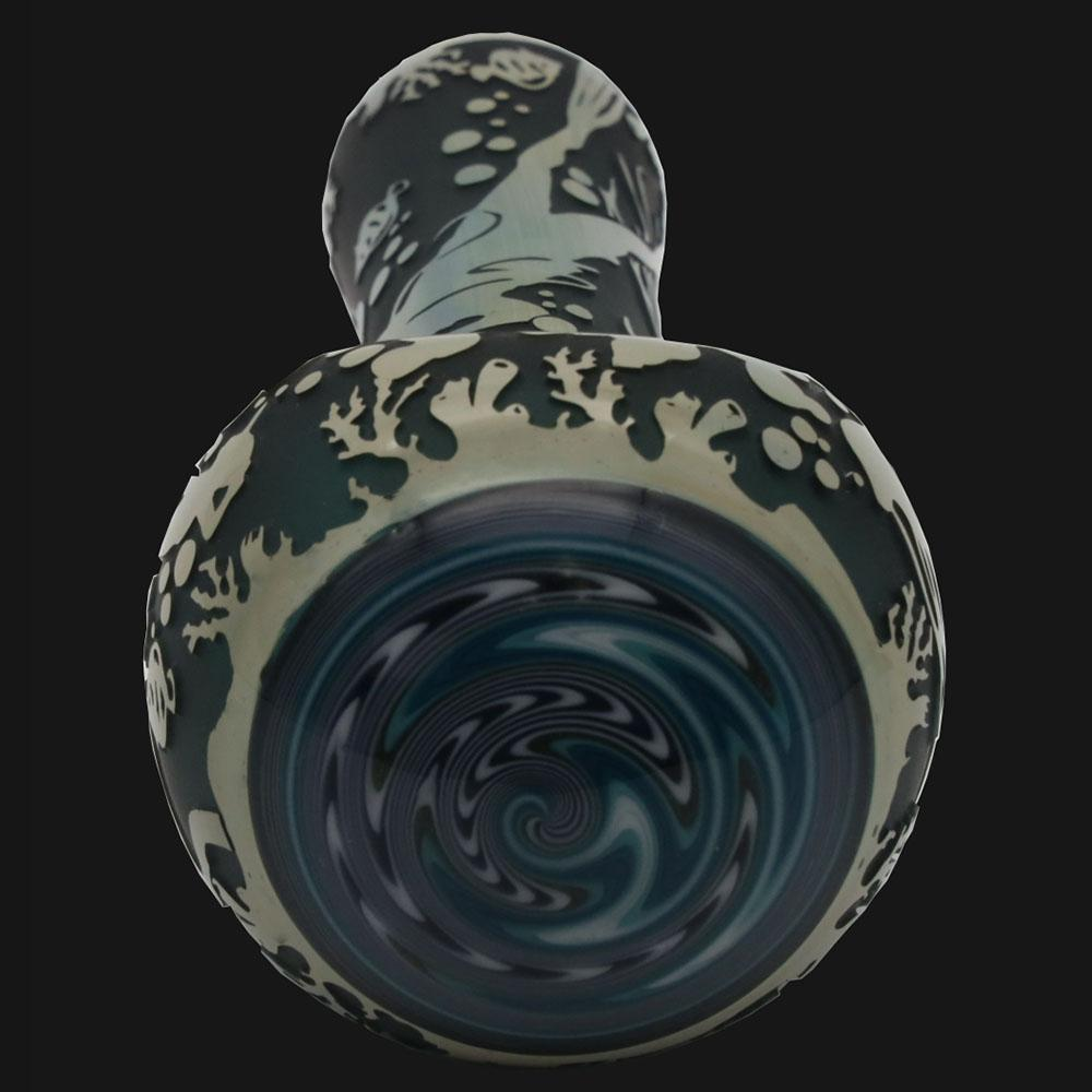Liberty 503 Glass - Ocean  Sandblasted - Glass Spoon Pipe - pipeee.com
