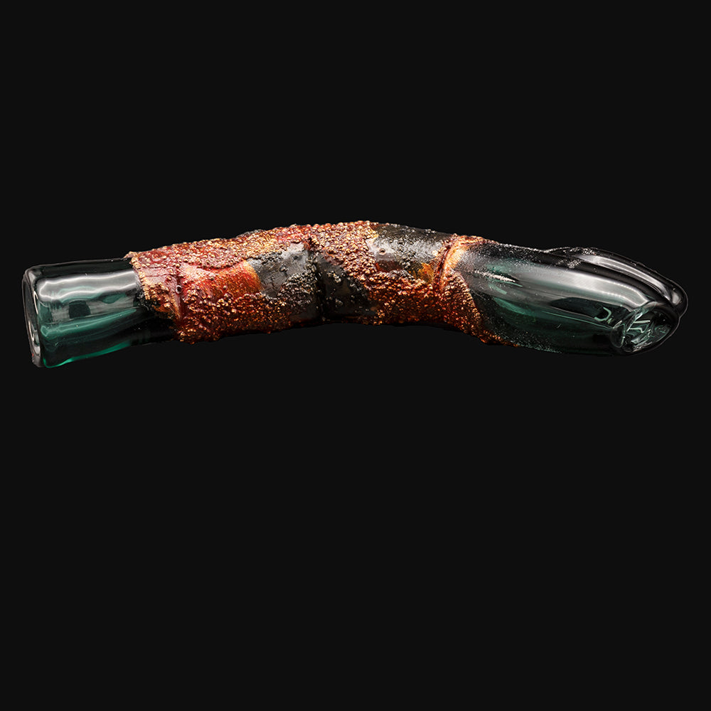 Cherry Glass - Finger Pinchie - Lava Patina One-Hitter Chillum