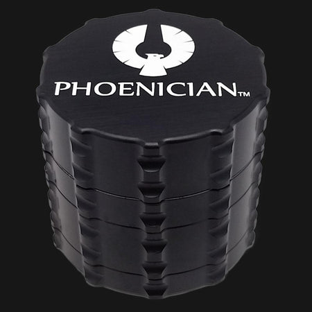 Phoenician Medium 4pc Grinder - Black - pipeee.com