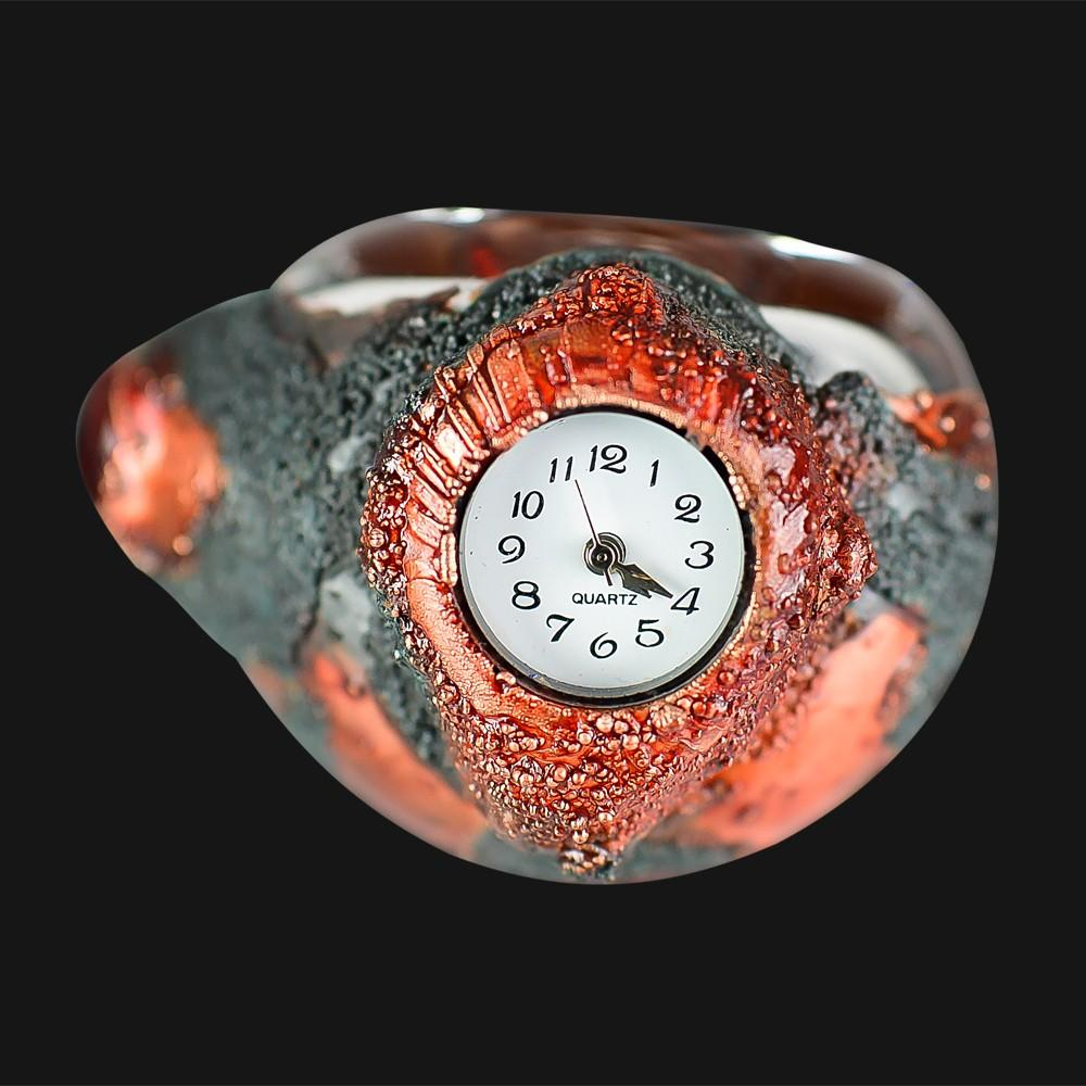 Cherry Glass - 420- Watch - Lava Patina Spoon Pipe - pipeee.com