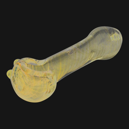 Mathematix Glass - Illuminati Striped UV Reactive Spoon Pipe - pipeee.com
