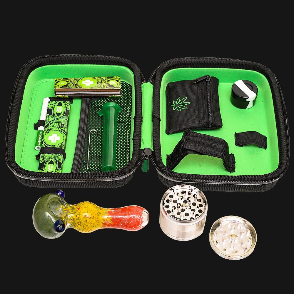 The Very Happy Kit Smell Proof All In One 420 Smoking Kit - pipeee.com