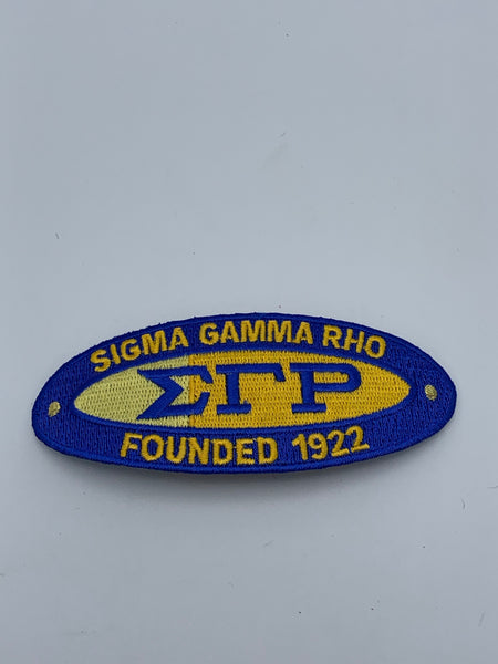 Sigma Gamma Rho -3in Founders (Iron on) Patch