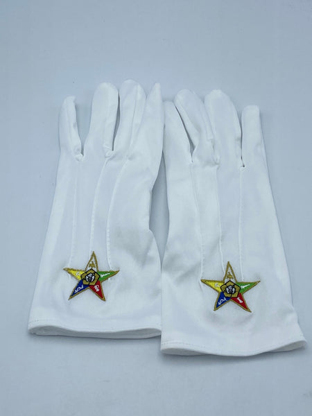 Order of The Eastern Star - White Gloves (Size Large)