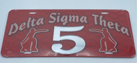 Delta Sigma Theta - Line Number License Plate #5