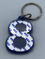 Phi Beta Sigma -Line Number Keychain #8